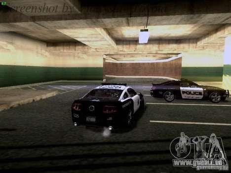 Ford Mustang GT 2011 Police Enforcement pour GTA San Andreas vue de dessous