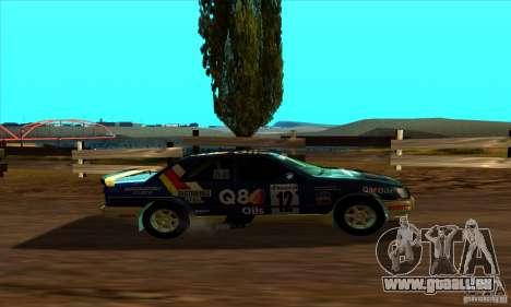 Ford Sierra RS500 Cosworth RallySport für GTA San Andreas zurück linke Ansicht