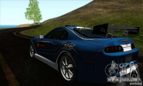 Toyota Supra Tunable für GTA San Andreas Innen