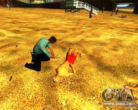 Salut de l'homme sur la plage pour GTA San Andreas
