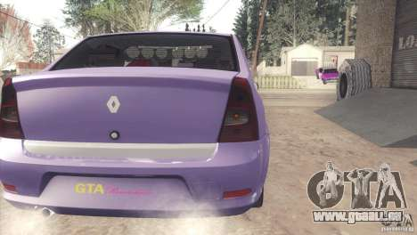 Renault Logan für GTA San Andreas zurück linke Ansicht