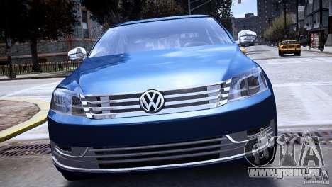 VW Passat B7 TDI Blue Motion pour GTA 4 est un droit