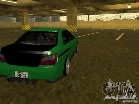 Subaru Impreza WRX für GTA San Andreas Innenansicht