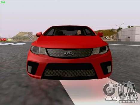 Kia Cerato Coupe 2011 für GTA San Andreas Innen