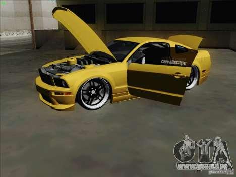 Ford Mustang GT Lowlife für GTA San Andreas Rückansicht