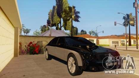Maybach 62 pour GTA San Andreas vue arrière