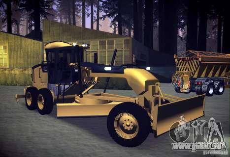 Caterpillar 140AWD Motorgrader für GTA San Andreas rechten Ansicht