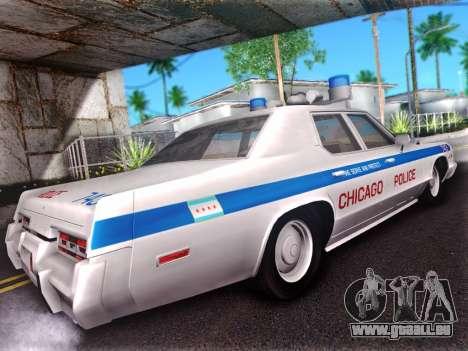 Dodge Monaco 1974 für GTA San Andreas Rückansicht