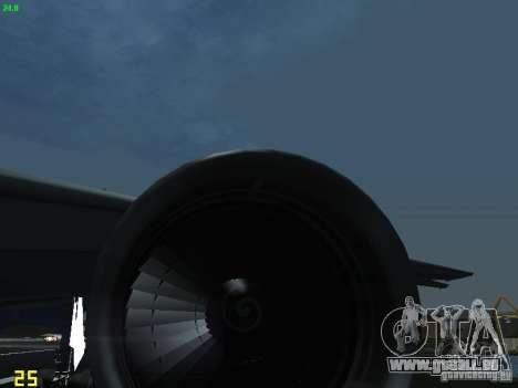 Boeing 767-300 AeroSvit Ukrainian Airlines für GTA San Andreas Innenansicht