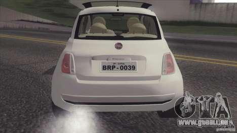 Fiat 500 Lounge 2010 pour GTA San Andreas vue de droite