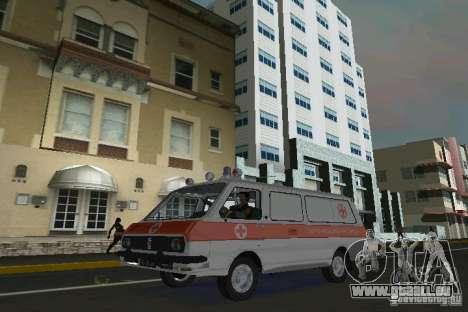RAF-22031 Krankenwagen für GTA Vice City linke Ansicht