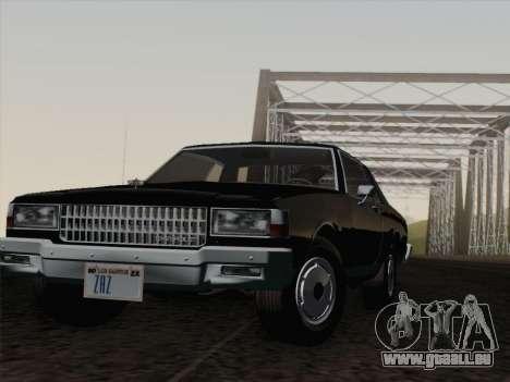 Chevrolet Caprice 1986 für GTA San Andreas Unteransicht