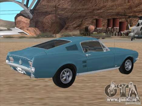 Ford Mustang Fastback 1967 pour GTA San Andreas laissé vue