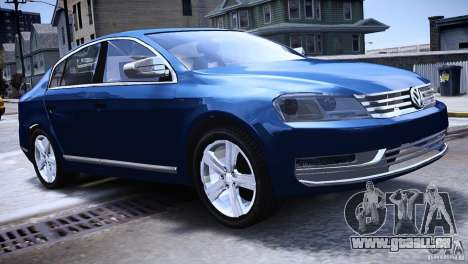 VW Passat B7 TDI Blue Motion für GTA 4 linke Ansicht