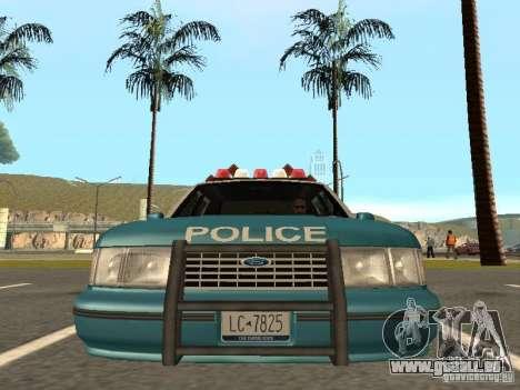 HD Police from GTA 3 für GTA San Andreas Rückansicht