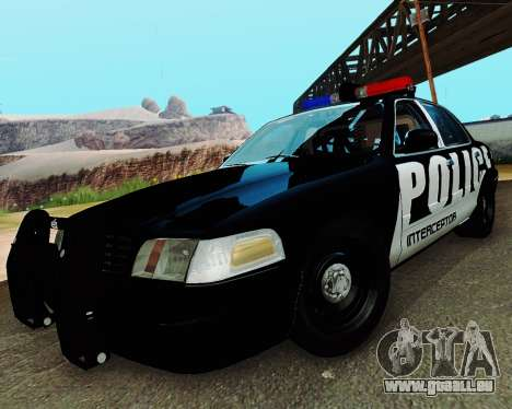Ford Crown Victoria Police Interceptor 2011 pour GTA San Andreas