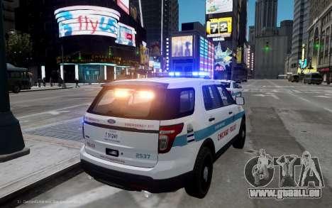 Ford Explorer Chicago Police 2013 für GTA 4 hinten links Ansicht