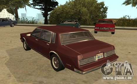 Eon Tahoma pour GTA San Andreas laissé vue