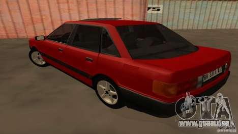Audi 80 B3 v2.0 pour GTA San Andreas sur la vue arrière gauche