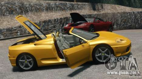 Ferrari 360 Spider 2000 pour GTA 4 est un droit