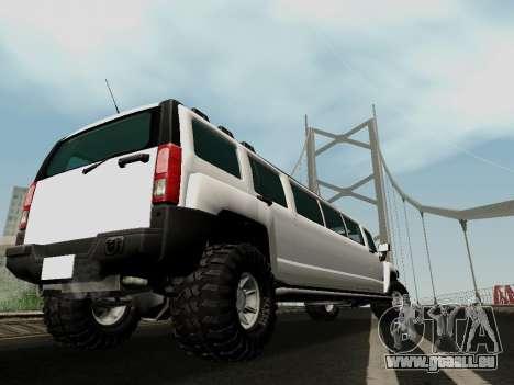 Hummer H3 Limousine pour GTA San Andreas laissé vue