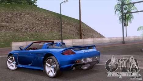 Porsche Carrera GT Custom pour GTA San Andreas laissé vue