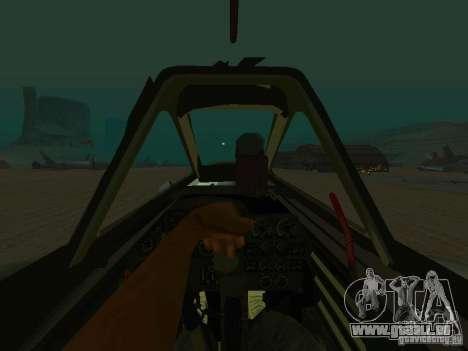 Messerschmitt Me262 für GTA San Andreas rechten Ansicht