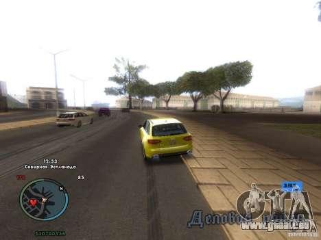 Indicateur de vitesse électronique pour GTA San Andreas deuxième écran