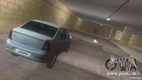 Dacia Logan pour une vue GTA Vice City de l'intérieur