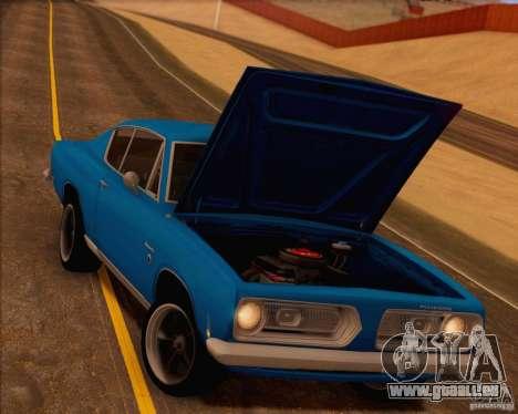 Plymouth Barracuda 1968 für GTA San Andreas Motor