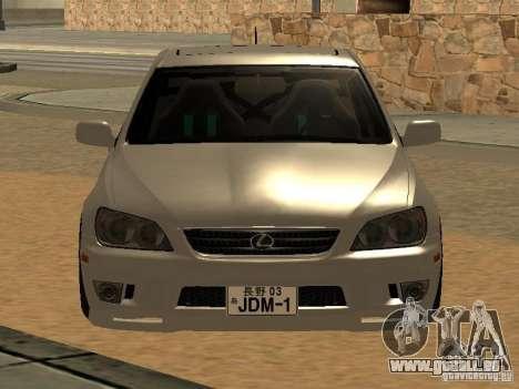 Lexus IS300 JDM pour GTA San Andreas sur la vue arrière gauche
