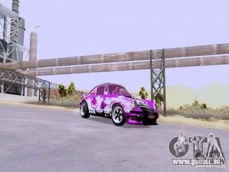 Porsche 911 Pink Power pour GTA San Andreas sur la vue arrière gauche
