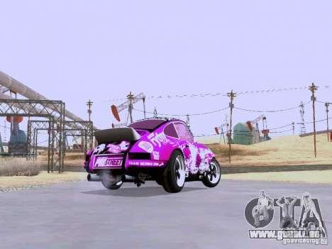 Porsche 911 Pink Power für GTA San Andreas Rückansicht