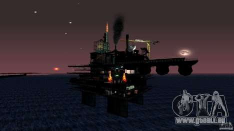 Plate-forme pétrolière à Los Santos pour GTA San Andreas cinquième écran