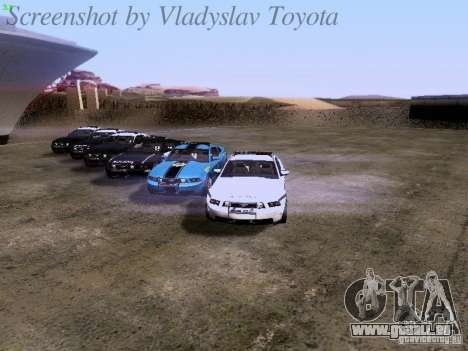 Ford Mustang GT 2011 Police Enforcement pour GTA San Andreas moteur