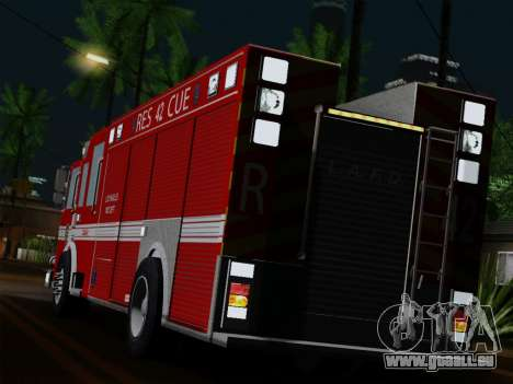 Pierce Contender LAFD Rescue 42 für GTA San Andreas zurück linke Ansicht