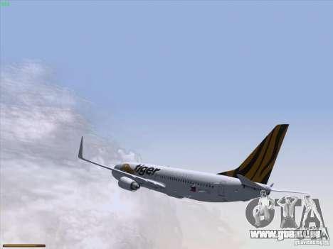 Boeing 737-800 Tiger Airways für GTA San Andreas Seitenansicht