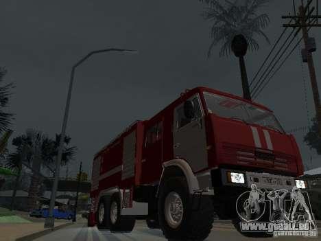 KAMAZ 43118 AC-7 für GTA San Andreas Rückansicht