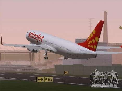 Boeing 737-8F2 Spicejet für GTA San Andreas Motor