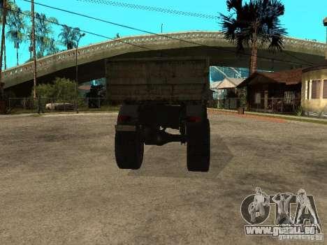 Camion à benne basculante KAZ 4540 pour GTA San Andreas sur la vue arrière gauche
