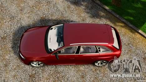 Audi RS4 Avant 2013 pour GTA 4 est un droit