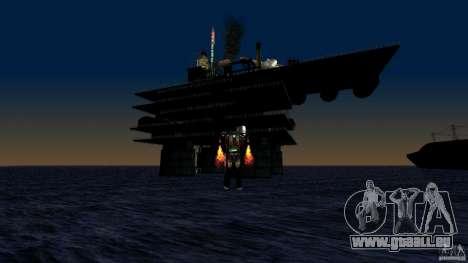 Plate-forme pétrolière à Los Santos pour GTA San Andreas quatrième écran