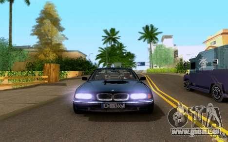 BMW 730i E38 FBI pour GTA San Andreas vue arrière