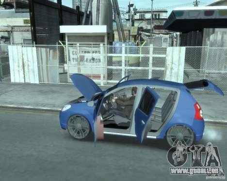 Renault Sandero v1.0 pour GTA 4 est une vue de l'intérieur