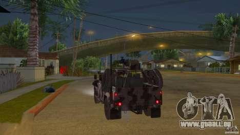 Land Rover WMIK pour GTA San Andreas sur la vue arrière gauche