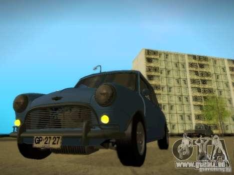 Mini Cooper 1965 für GTA San Andreas zurück linke Ansicht