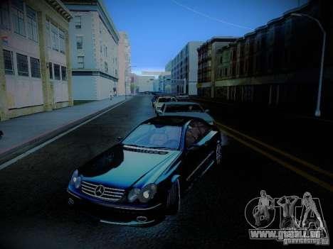 Mercedes-Benz CLK 55 AMG Coupe pour GTA San Andreas vue de dessus