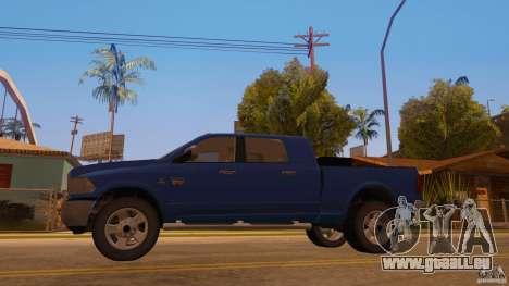 Dodge Ram 2500 HD 2012 pour GTA San Andreas sur la vue arrière gauche