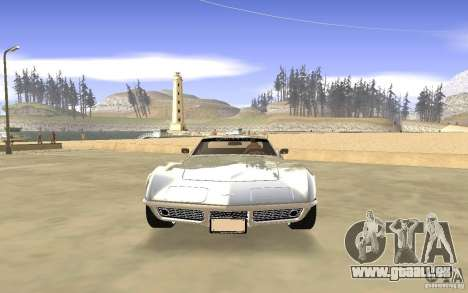 Chevrolet Corvette Stingray Monster Energy pour GTA San Andreas vue de côté