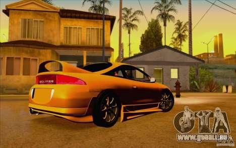 Mitsubishi Eclipse GSX Mk.II 1999 pour GTA San Andreas laissé vue